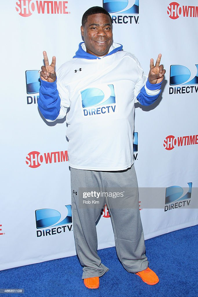 Tracy Morgan attends the DirecTV Beach Bowl at Pier 40 on February 1 2014 in New York City