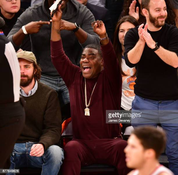 Tracy Morgan attends the Toronto Raptors Vs New York Knicks game at Madison Square Garden on November 22 2017 in New York City
