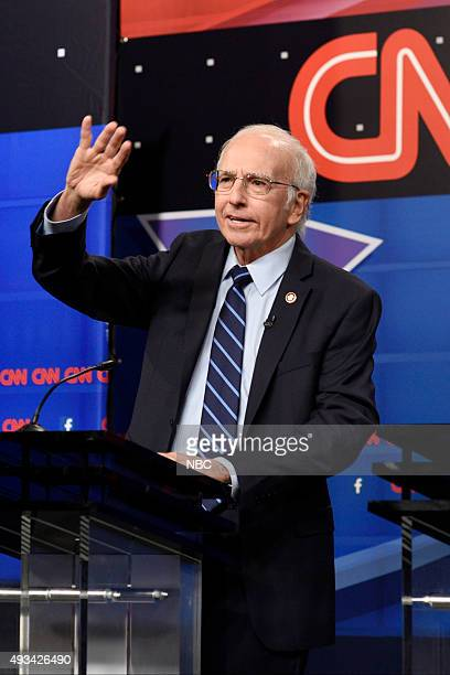 LIVE 'Tracy Morgan' Episode 1686 Pictured Larry David as Bernie Sanders during the 'Democratic Debate Cold Open' sketch on October 17 2015