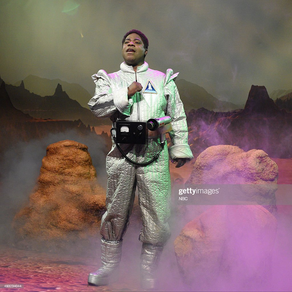 LIVE 'Tracy Morgan' Episode 1686 Pictured Tracy Morgan as Astronaut Jones during the 'Astronaut Jones' sketch on October 17 2015