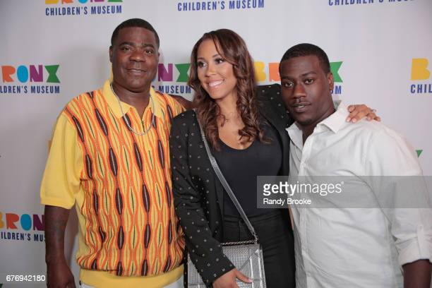 Tracy Morgan his wife Megan Wollover Morgan and son Tracy Morgan Jr attend the 2017 The Bronx Children's Museum Gala at Tribeca Rooftop on May 2 2017...