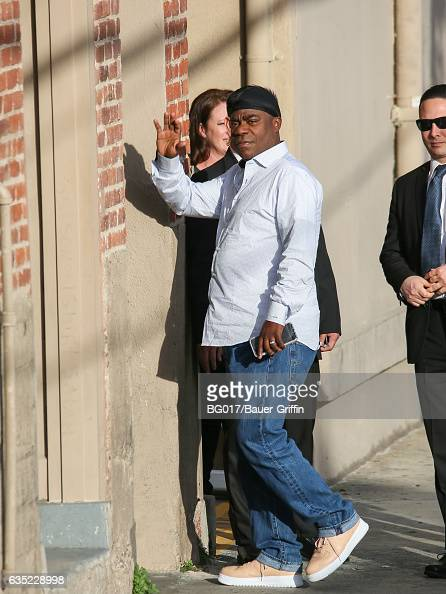 Tracy Morgan is seen arriving at 'Jimmy Kimmel Live' on February 13 2017 in Los Angeles California