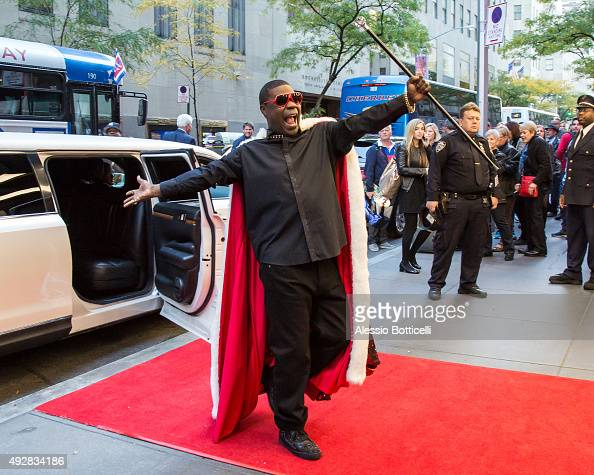 Tracy Morgan is seen outside NBC Studios on October 15 2015 in New York City