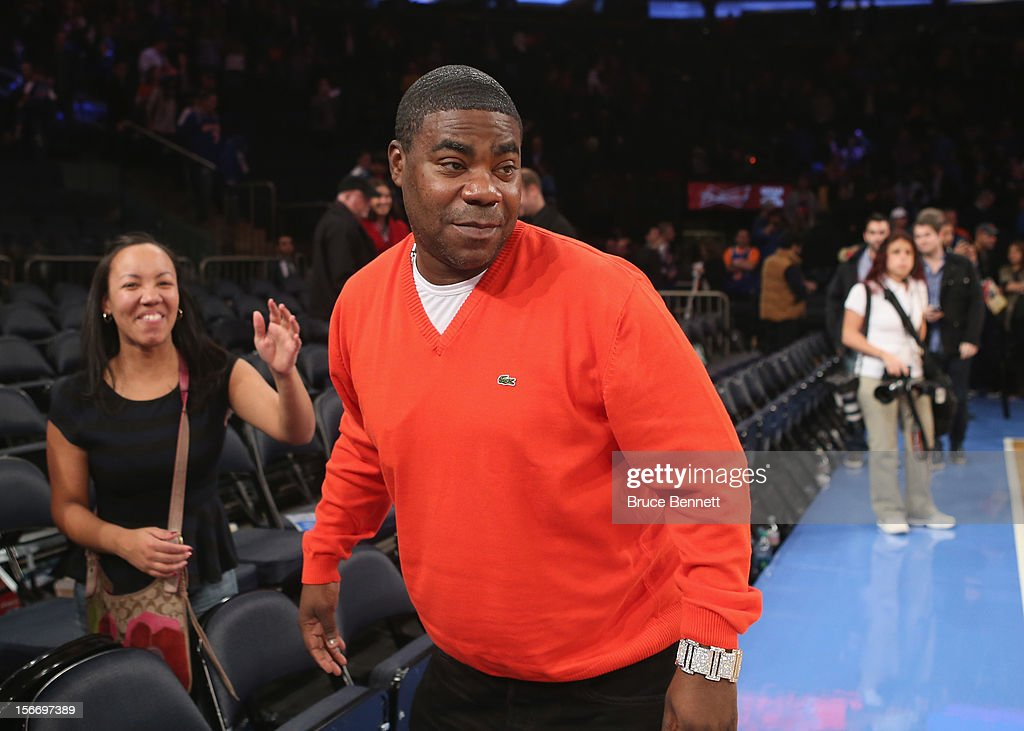 <a gi-track='captionPersonalityLinkClicked' href=/galleries/search?phrase=Tracy+Morgan&family=editorial&specificpeople=182428 ng-click='$event.stopPropagation()'>Tracy Morgan</a> leaves the arena following the game between the New York Knicks and the Indiana Pacers at Madison Square Garden on November 18, 2012 in New York City.