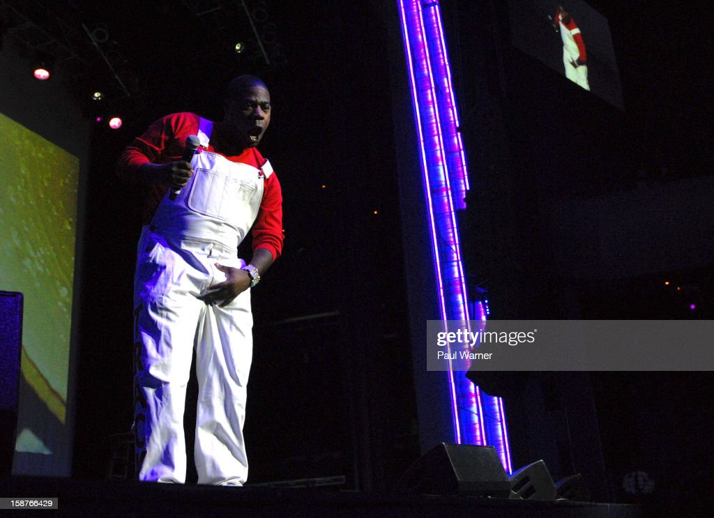 Tracy Morgan performs at the MotorCity Casino's Sound Board Theater on December 27, 2012 in Detroit, Michigan.