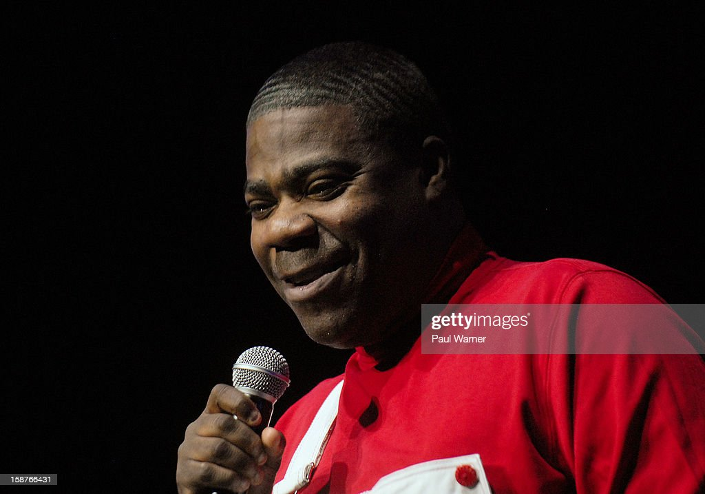 <a gi-track='captionPersonalityLinkClicked' href=/galleries/search?phrase=Tracy+Morgan&family=editorial&specificpeople=182428 ng-click='$event.stopPropagation()'>Tracy Morgan</a> performs at the MotorCity Casino's Sound Board Theater on December 27, 2012 in Detroit, Michigan.