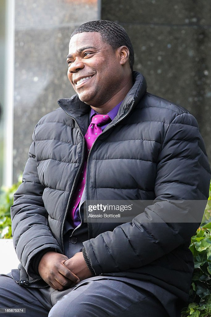 Tracy Morgan seen on location in Queens while filming his new FX comedy series 'Death Pact' on October 25, 2013 in New York City.