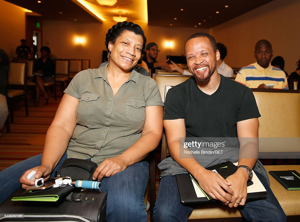 Tracy Morrow (L) and Robert Poole attend the ABFF Encore Master Class during the 2016 BET Experience at the JW Marriott Los Angeles L.A. Live on June 25, 2016 in Los Angeles, California.