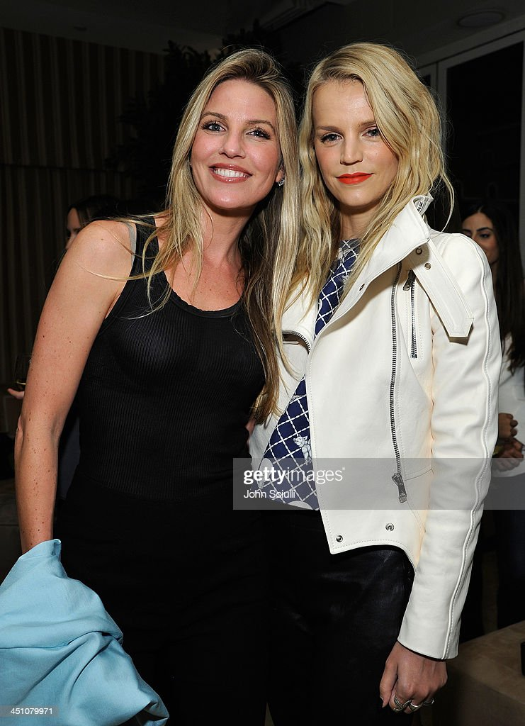 Tracy O'Connor and Kelly Sawyer Patricof attend the relaunch of 'The Zoe Report' Hosted by FIJI Water at the Sunset Tower Hotel on November 20, 2013 in Los Angeles, California.
