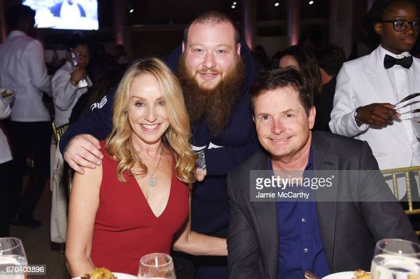 Tracy Pollan Action Bronson and Michael J Fox attend the Food Bank for New York City CanDo Awards Dinner 2017 on April 19 2017 in New York City