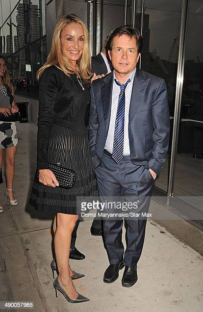 Tracy Pollan and Michael J Fox are seen on May 12 2014 in New York City