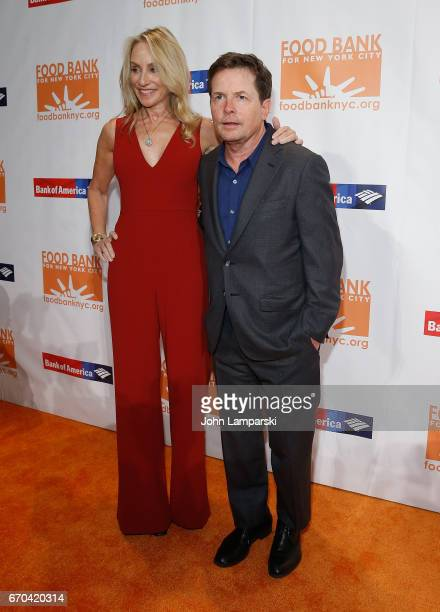 Tracy Pollan and Michael J Fox attend 2017 CanDo Awards at Cipriani Wall Street on April 19 2017 in New York City