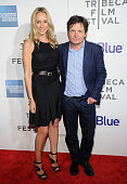 Tracy Pollan and Michael J Fox attend the screening of 'Trust Me' during the 2013 Tribeca Film Festival at BMCC Tribeca PAC on April 20 2013 in New...
