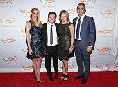 Tracy Pollan Michael J Fox Katie Couric and John Molner attend '2014 A Funny Thing Happened On The Way To Cure Parkinson's' event at The...