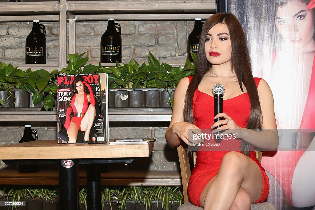 Tracy Saenz attends the Playboy Mexico magazine may 2016 issue photocall at Fiebre de Malta on May 2, 2016 in Mexico City, Mexico.