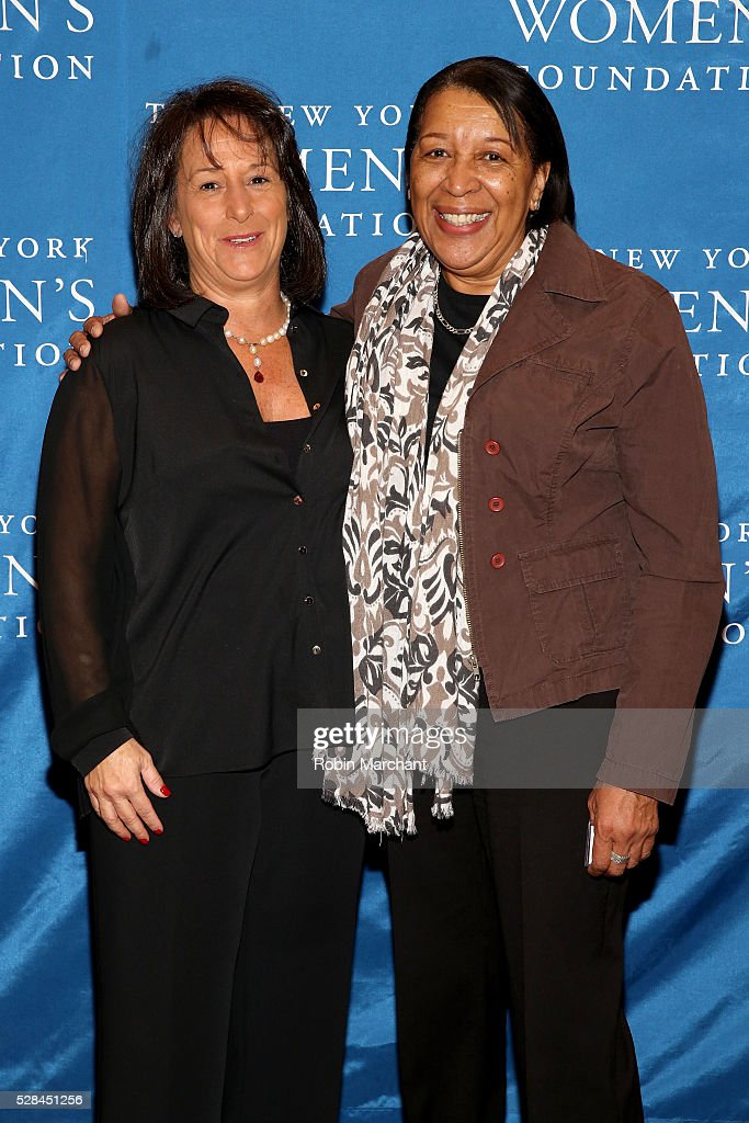 Tracy Schusterman and Merble Reagon attend The New York Women's Foundation's 2016 celebration womens breakfast on May 5, 2016 in New York City.