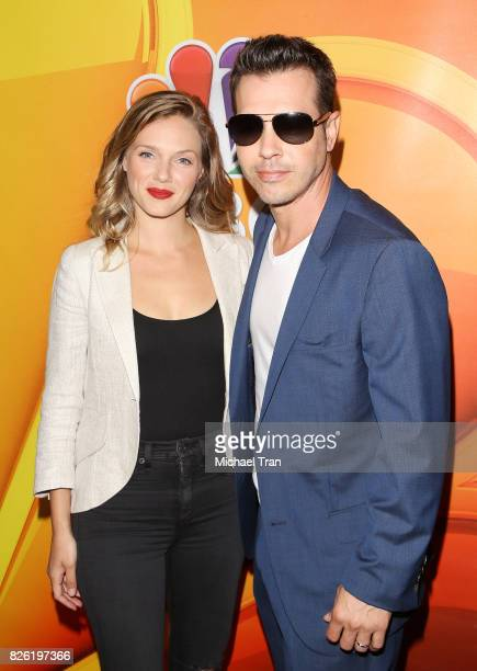 Tracy Spiridakos and Jon Seda arrive to the 2017 Summer TCA Tour NBC Press Tour held at The Beverly Hilton Hotel on August 3 2017 in Beverly Hills...