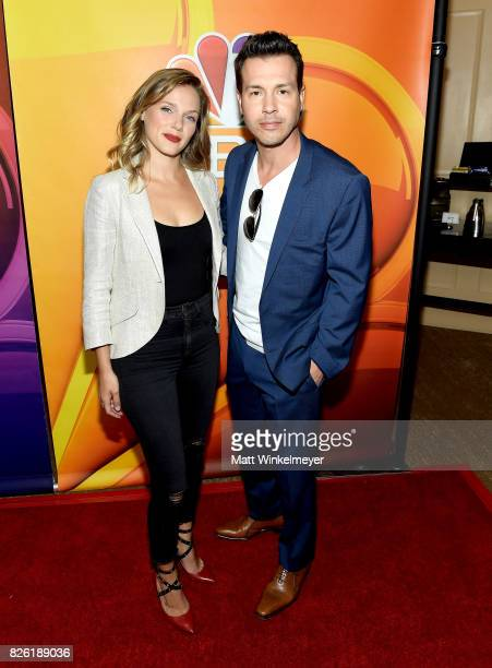 Tracy Spiridakos and Jon Seda at the NBCUniversal Summer TCA Press Tour at The Beverly Hilton Hotel on August 3 2017 in Beverly Hills California