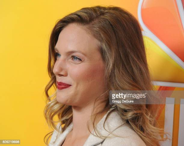 Tracy Spiridakos arrives at the 2017 Summer TCA Tour NBC Press Tour at The Beverly Hilton Hotel on August 3 2017 in Beverly Hills California