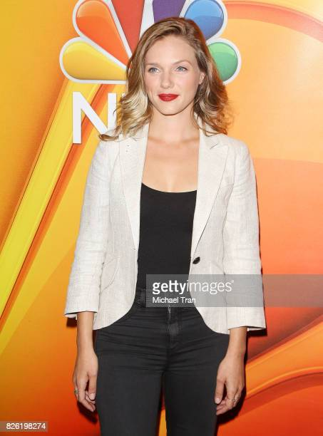 Tracy Spiridakos arrives to the 2017 Summer TCA Tour NBC Press Tour held at The Beverly Hilton Hotel on August 3 2017 in Beverly Hills California