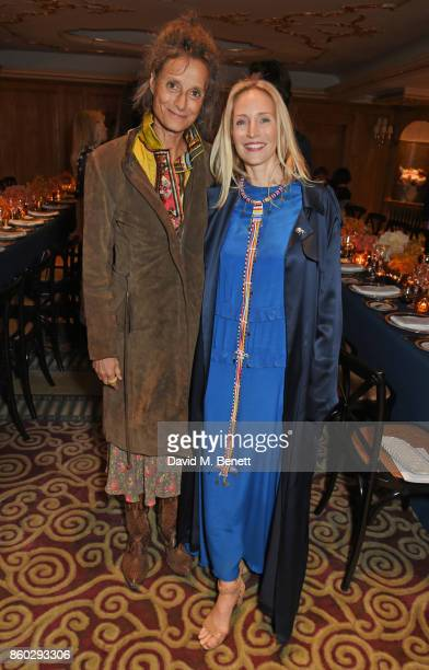Tracy Worcester and Ruth Ganesh attend a private dinner following the Warrior Games Exhibition VIP Preview hosted by HRH Princess Eugenie Waris...