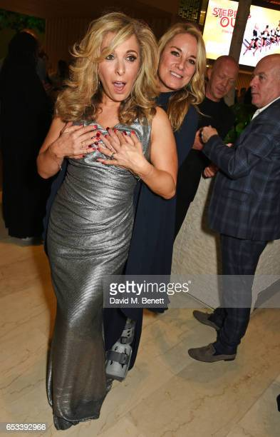 TracyAnn Oberman and Tamzin Outhwaite attend the press night after party for 'Stepping Out' at the Coutts Bank on March 14 2017 in London England
