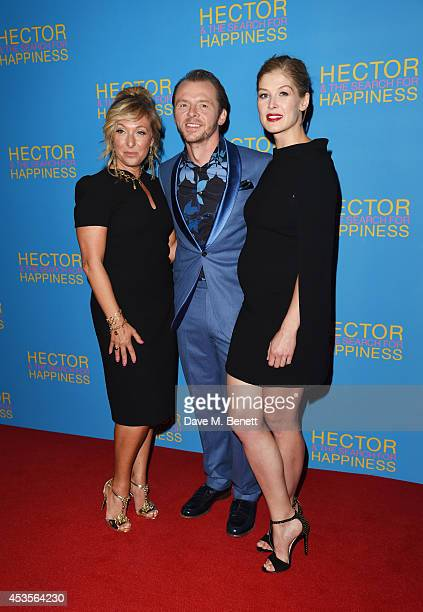 TracyAnn Oberman Simon Pegg and Rosamund Pike attend the UK Premiere of 'Hector And The Search For Happiness' at Empire Leicester Square on August 13...