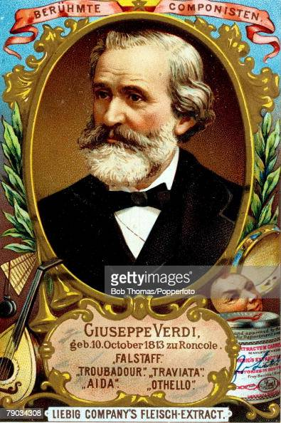 Trade card Colour illustration Music/ Composers Giuseppe Verdi Italian composer