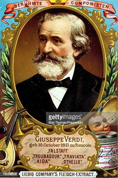 trade card colour illustration music composers giuseppe verdi italian composer