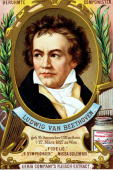 Trade card Colour illustration Music/ Composers Ludwig van Beethoven German composer