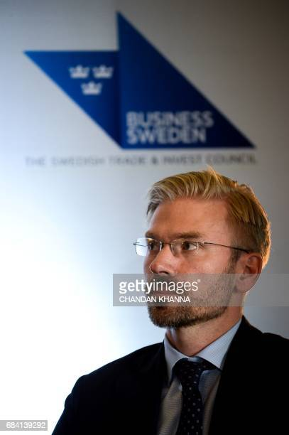 Trade Commissioner of Sweden to India Carsten Gronblad looks on during the 18th Session of IndiaSweden Joint Commission for Economic Industrial and...