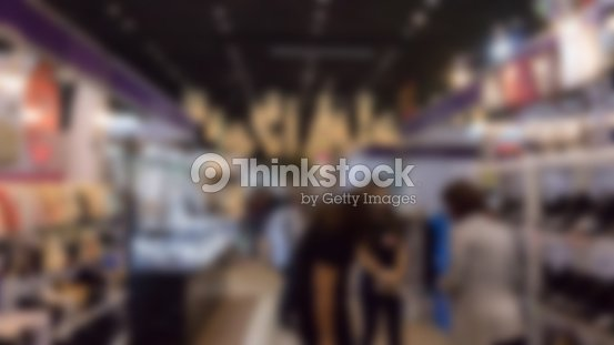 Exhibition Hall Booth : Trade fair in exhibition hall booth selling cheap goods from the