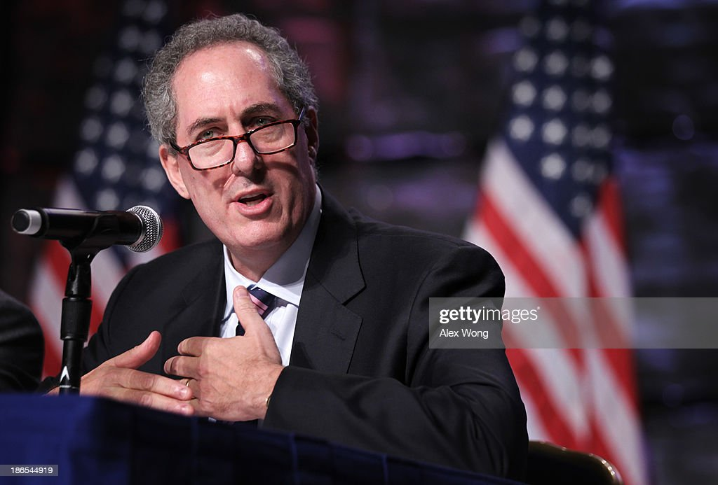 U.S. Trade Representative <a gi-track='captionPersonalityLinkClicked' href=/galleries/search?phrase=Michael+Froman&family=editorial&specificpeople=5935975 ng-click='$event.stopPropagation()'>Michael Froman</a> speaks as he participates in a discussion on 'Why Select the