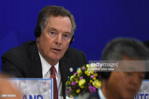 US Trade Representative Robert Lighthizer attends a joint press conference held on the sidelines of the AsiaPacific Economic Cooperation 23rd...