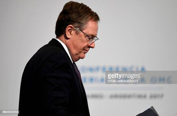 US Trade Representative Robert Lighthizer attends the 11th Ministerial Conference of the World Trade Organization plenary session in Buenos Aires...