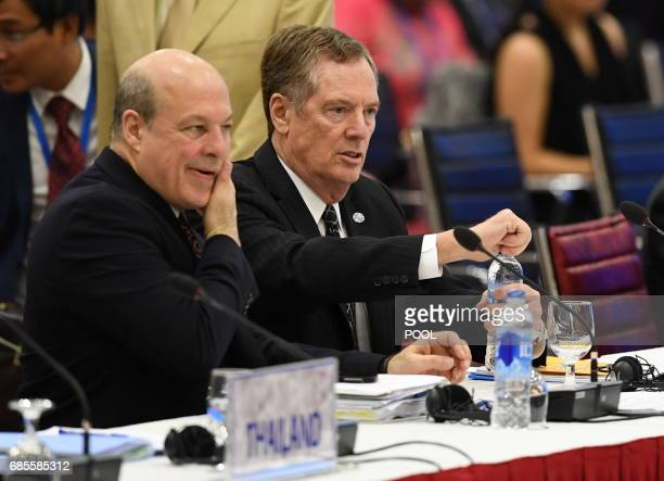 US Trade Representative Robert Lighthizer attends the AsiaPacifics Economic Cooperation 23rd Ministers responsible for Trade Meeting at the National...