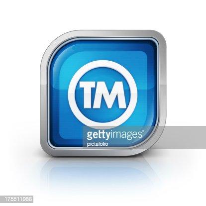 トレードマークの光沢のあるアイコン tm 3 D