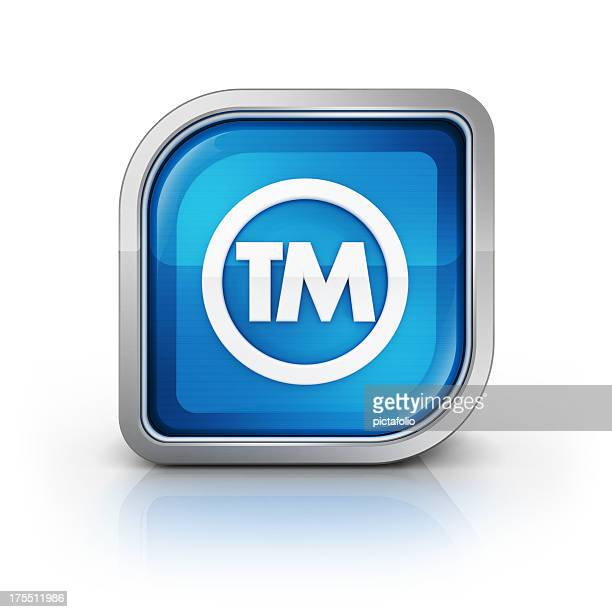 trademark tm 3d glossy icon