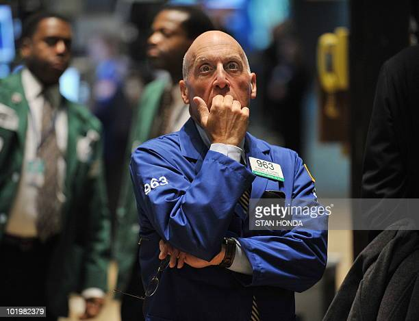 A trader watches prices near the closing bell October 23 2008 on the floor of the New York Stock Exchange The Dow closed up 17204 points AFP...