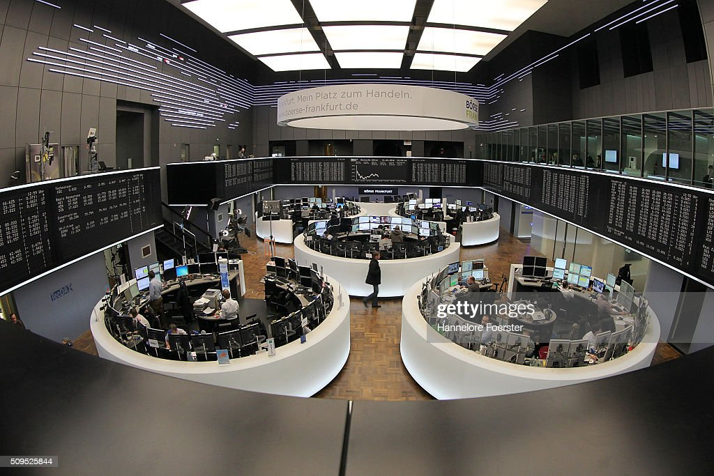 Traders at the Frankfurt Stock Exchange on February 11, 2016 in Frankfurt, Germany. Stock markets across the globe have been exceptionally volatile in recent weeks as investors fear a global economic slowdown.