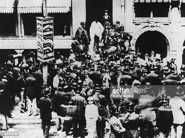 Traders outside the New York Stock Exchange 1863