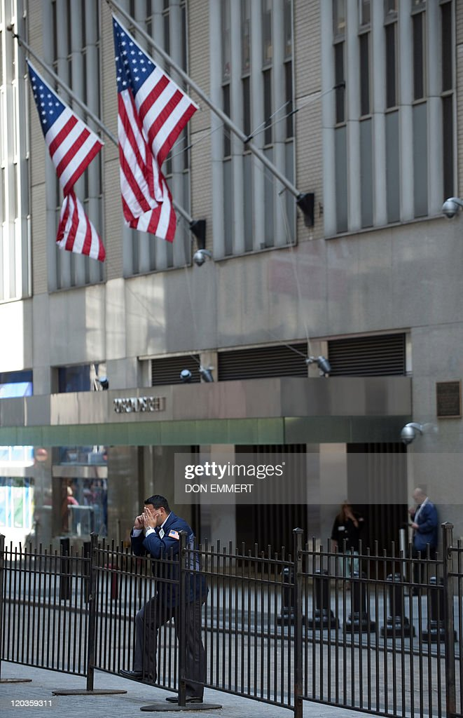 Traders take a break outside the New York Stock Exchange August 3 2011 in New York If stocks fall today it will be the longest losing streak in 33...
