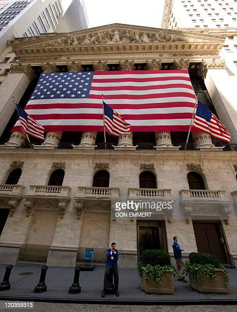Traders take breaks outside the New York Stock Exchange August 3 2011 in New York If stocks fall today it will be the longest losing streak in 33...