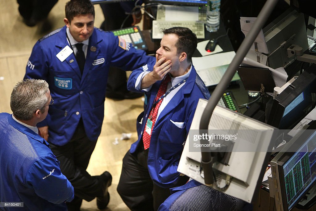 Traders work on the floor of the New York Stock Exchange (NYSE) December 31, 2008 in New York City. Wednesday is the last day of trading on the exchange in what has been one of the most tumultuous years in finance in the nation's history.