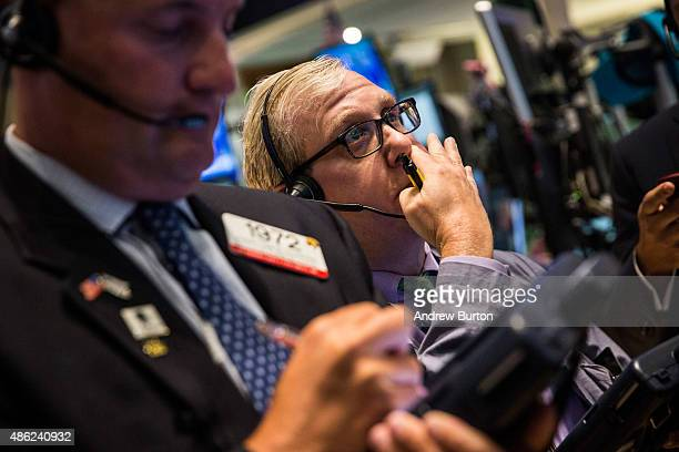 Traders work on the floor of the New York Stock Exchange during the afternoon of September 2 2015 in New York City After three days of losses the...