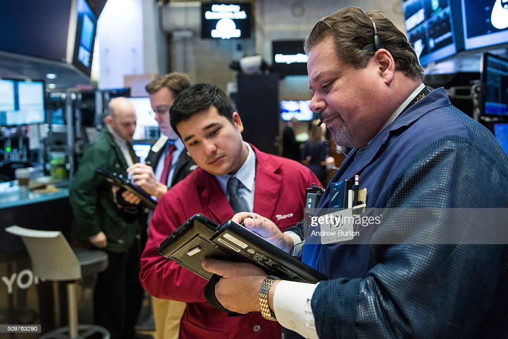 Traders work on the floor of the New York Stock Exchange during the morning of February 12, 2016 in New York City. The market rose more than 100 points after the opening bell despite a volatile week and big losses in Japan.