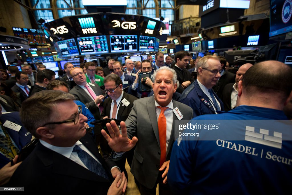 Great Traders Work On The Floor Of The New York Stock Exchange (NYSE) During The