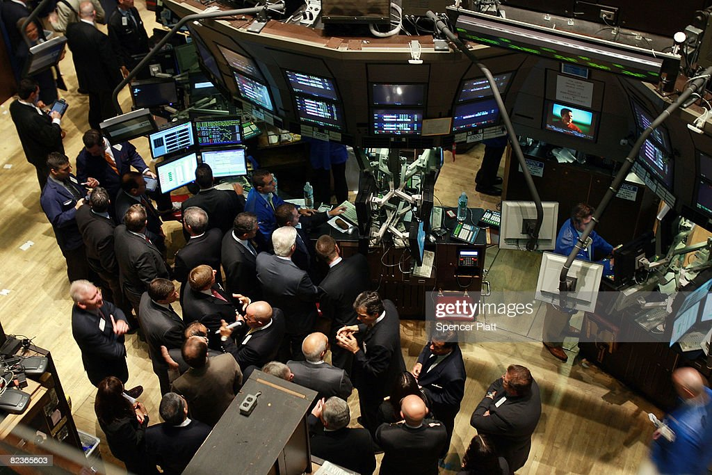 Traders Works On The Floor Of The New York Stock Exchange (NYSE) August 15
