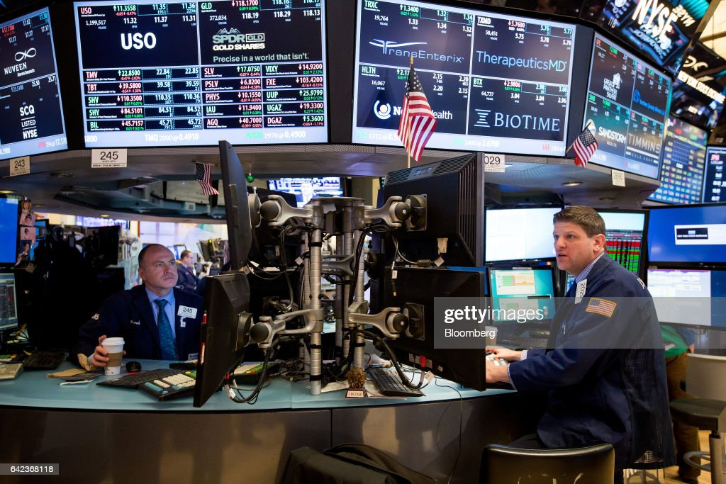 Trades Work On The Floor Of The New York Stock Exchange (NYSE) In New