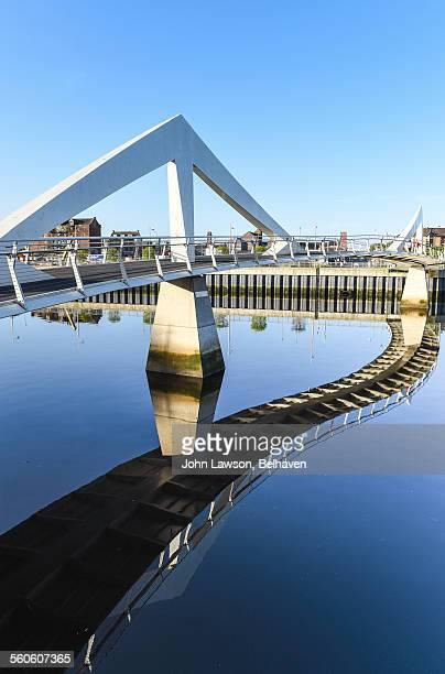 Tradeston or Squiggly Bridge, Glasgow, Scotland
